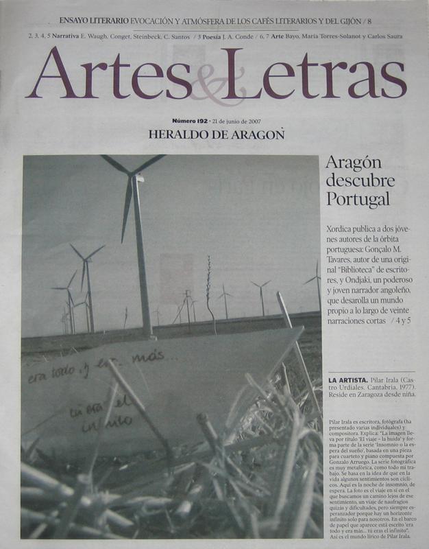 portada artesyletras HeraldodeAragon 21-06-07